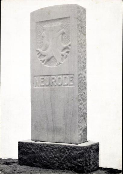 Ak Nowa Ruda Neurode Schlesien, Baustein Neurode dankt, Denkmal, 10. Neuroder Heimattreffen 1962