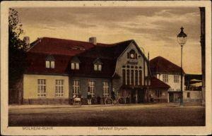 Ak Styrum Mülheim an der Ruhr in Nordrhein Westfalen, Blick auf den Bahnhof