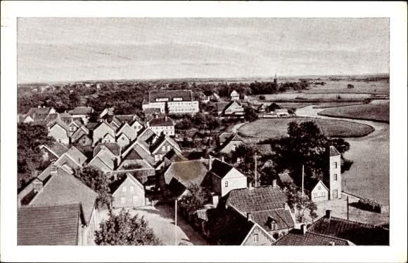 Ak Barßel in Niedersachsen, Panoramablick auf die Stadt
