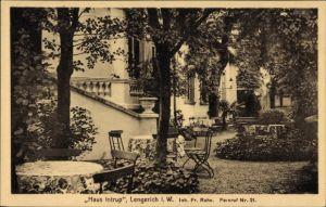 Ak Lengerich im Tecklenburger Land Westfalen, Haus Intrup, Inh. Fr. Rahe, Garten