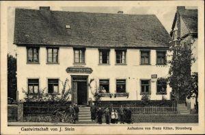 Ak Blankenrath im Hunsrück, Gastwirtschaft von J. Stein, Anwohner