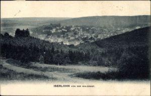 Ak Iserlohn im Märkischen Kreis, Totalansicht vom Ort von der Waldrast aus gesehen