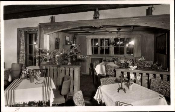 Ak Hinterzarten im Südschwarzwald, Gaststube vom Hotel Adler