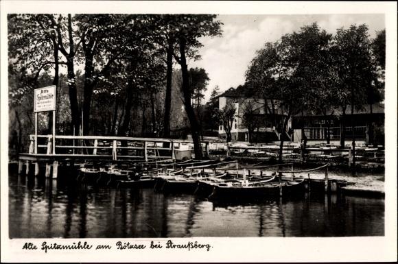 Ak Strausberg im Kreis Märkisch Oderland, alte Spitzmühle am Bötzsee