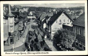 Ak Braunlage im Oberharz, Viehtrieb auf der Elbigeröder Straße