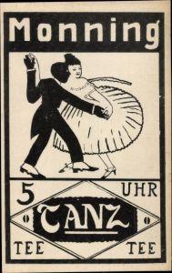 Ak Duisburg im Ruhrgebiet, Monning im Duisburger Walde, Tanzpaar