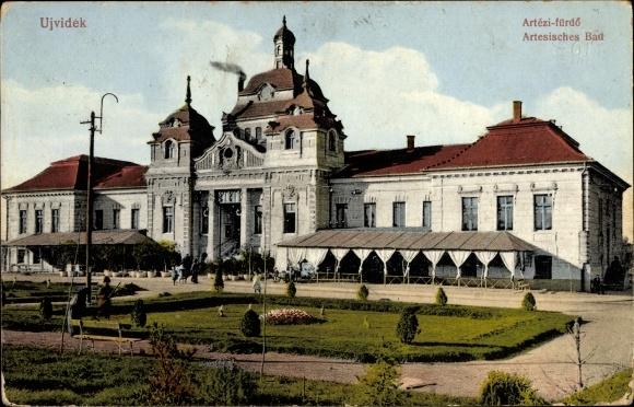 Ak Novi Sad Újvidék Neusatz Serbien, Artesisches Bad, Artezi fürdö