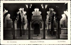 Ak Cordoba Andalusien Spanien, Mezquita, El Mihrab, Moschee