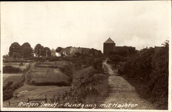 Foto Ak Rüthen im Kreis Soest Nordrhein Westfalen, Rundgang mit Hachtor