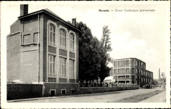 Ak Herstal Wallonien Lüttich, Blick auf die technische Provinzialschule