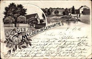 Litho Magdeburgerforth Möckern im Jerichower Land, Teilansichten vom Ort