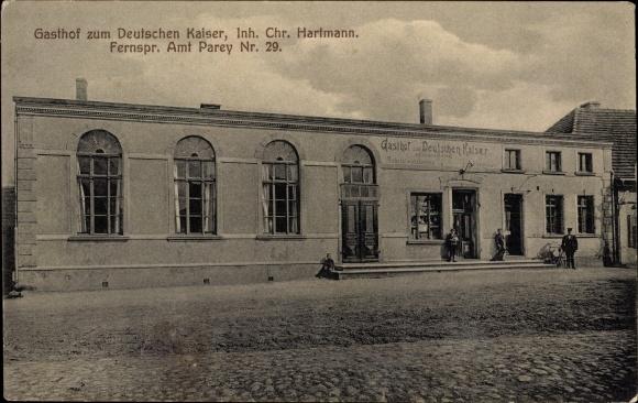 Ak Elbe Parey Sachsen Anhalt, Gasthof zum Deutschen Kaiser, Inh. Chr. Hartmann