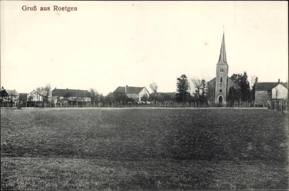 Ak Roetgen in Nordrhein Westfalen, Blick zum Ort mit Kirche