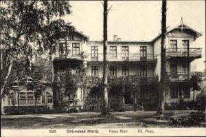 Ak Graal Müritz im Kreis Rostock, Blick auf das Haus Moll