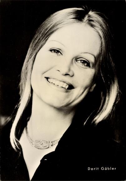 Ak Schauspielerin Dorit Gäbler, Portrait, Nicht schummeln Liebling, Progress Starfoto