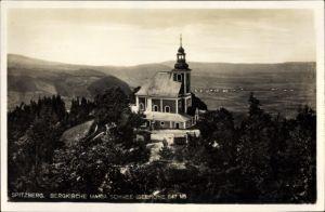 Ak Międzygórze Wölfelsgrund Schlesien, Bergkirche Maria Schnee, Spitzberg, Spitziger Berg