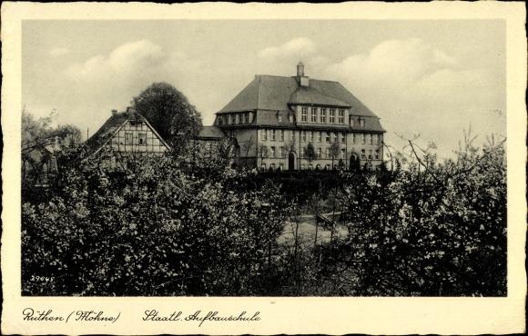 Ak Rüthen im Kreis Soest Nordrhein Westfalen, Staatliche Aufbauschule