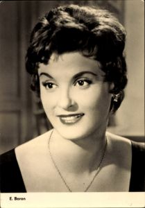 Ak Schauspielerin E. Baron, Portrait, Es geschah um Mitternacht, Progress Starfoto