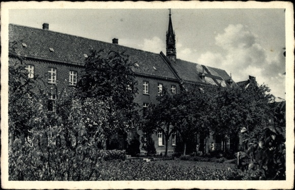 Ak Hamb Kapellen Geldern am Niederrhein, Kloster St. Bernardin, Gartenansicht