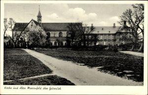 Ak Marienfeld Harsewinkel in Nordrhein Westfalen, Blick auf Kirche und Abtei