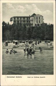 Ak Gromitz In Ostholstein Blick Auf Das Hotel Zur Schonen Aussicht
