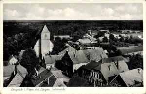 Ak Lengerich im Emsland, Teilansicht über den Dächern der Stadt, Kirche