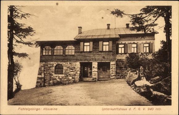 Ak Wunsiedel im Tal der Röslau Oberfranken, Blick auf das Unterkunftshaus, Fichtelgebirge, Kösseine