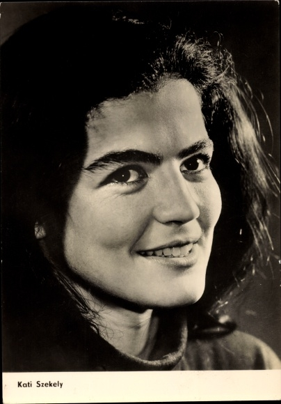 Ak Schauspielerin Kati Szekely, Portrait, Trübe Wasser, Defa Film, Progress Starfoto