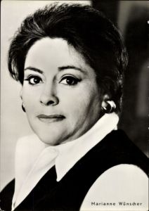 Ak Schauspielerin Marianne Wünscher, Portrait, Heißer Sommer, Progress Starfoto