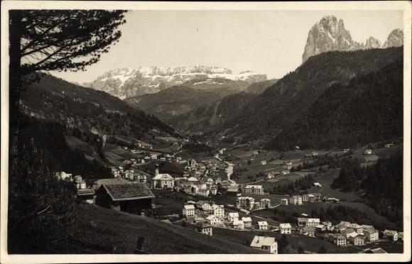 Foto Ak St. Ulrich in Gröden Ortisei Südtirol, Stadtpanorama, Dolomiten