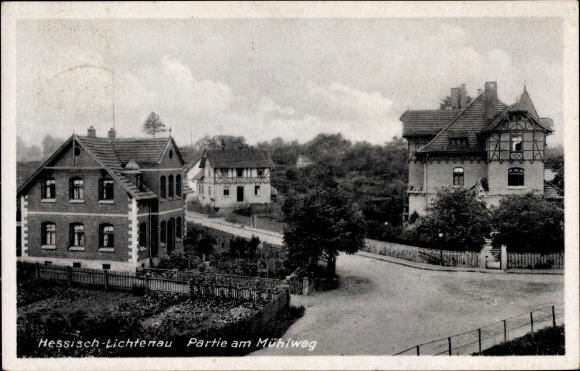 Ak Hessisch Lichtenau im Werra Meißner Kreis, Partie am Mühlweg, Wohnhäuser