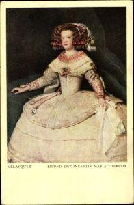 Künstler Ak Velazquez, Infantin Maria Theresia, Maria Theresia von Österreich