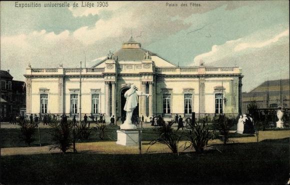 Ak Liège Lüttich Wallonien, Exposition universelle 1905, Palais des Fetes