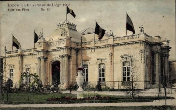 Ak Liège Lüttich Wallonien, Exposition Universelle 1905, Salle des Fetes