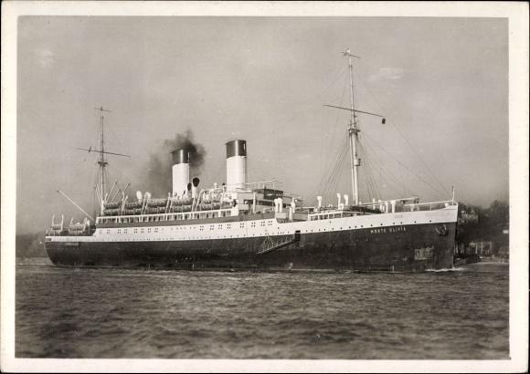 Ak Dampfschiff Monte Olivia, HSDG, Motorschiff