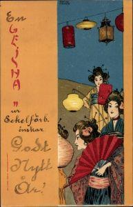 Künstler Litho Kirchner, Raphael, Geisha, Japanerinnen