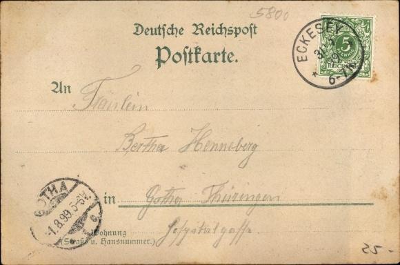 Litho Eckesey Hagen In Westfalen Ruhrgebiet Gastwirtschaft