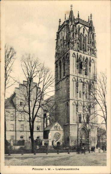 Ak Münster in Westfalen, Blick auf die Liebfrauenkirche