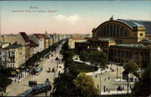 Ak Berlin Kreuzberg, Partie am Askanischen Platz mit Anhalter Bahnhof