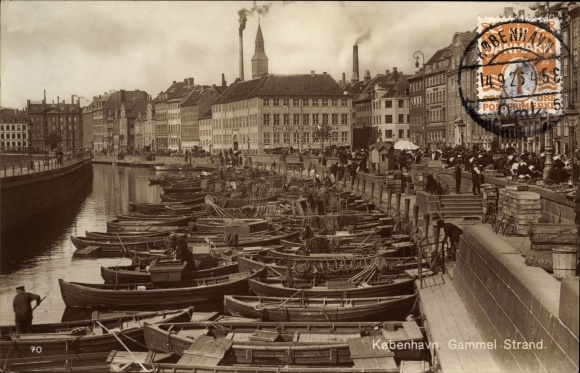 Ak København Kopenhagen Dänemark, Gammel Strand, Boote