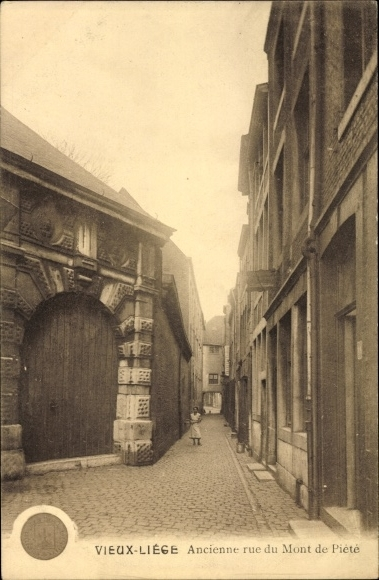Ak Liège Lüttich Wallonien, Ancienne rue du Mont de Piete