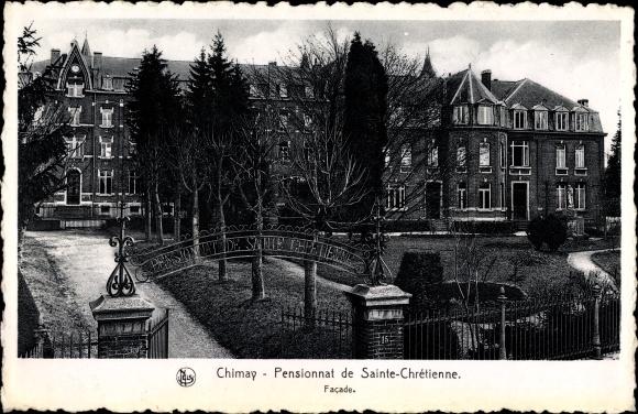 Ak Chimay Wallonien Hennegau, Pensionnat de Sainte Chrétienne, Facade