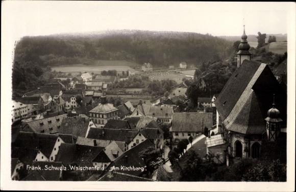 Ak Waischenfeld in der Fränkischen Schweiz Bayern, Partie am Kirchberg, Stadtansicht