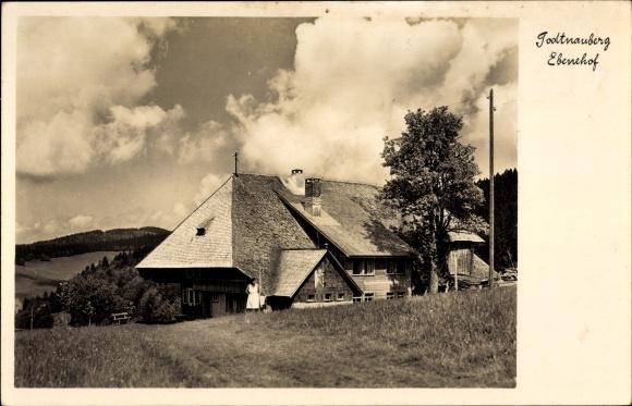 Ak Todtnau im Südschwarzwald Kreis Lörrach, Blick auf den Ebenehof, Inh. J. Gutmann
