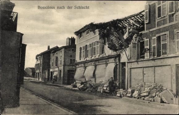 Ak Bouxières-aux-Chênes Lothringen Meurthe et Moselle, Nach der Schlacht, Kriegszerstörungen, I. WK
