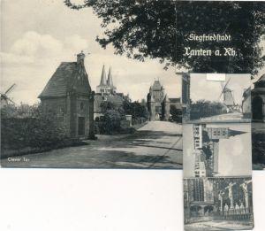 Leporello Ak Xanten am Niederrhein, Partie am Clever Tor, Mühle an der Stadtmauer, Dom, Marktplatz