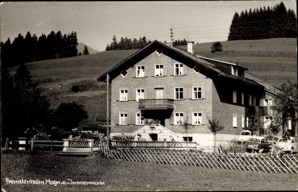 Ak Langenwang Fischen im Allgäu, Blick zum Fremdenheim Magnus Zimmermann