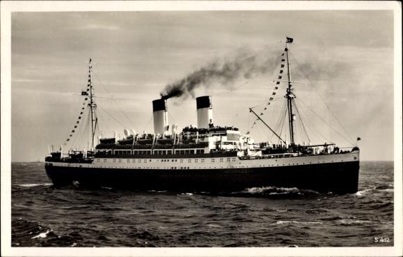 Ak Dampfschiff MS Monte Olivia, HSDG, Ansicht Steuerbord