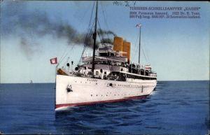 Ak Dampfschiff Kaiser, HAPAG Seebäderdienst, Turbinen Schnelldampfer