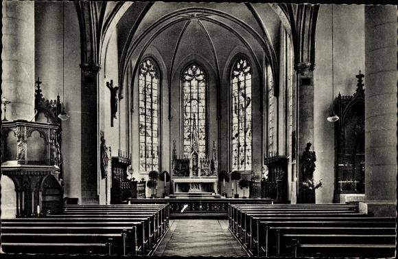 Ak Telgte in Nordrhein Westfalen, Blick in die Kirche, Altar